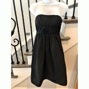 BCBGMaxazaria Black Taffeta Strapless Dress XS